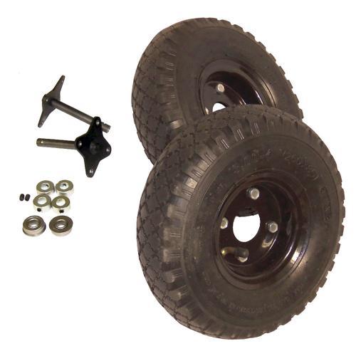 ATR Wheel and Shaft Set Pair 8mm bore - 10 inch pneumatic