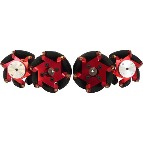 2.125 inch FingerTech Robot Mecanum Wheels with hubs - Set of 4