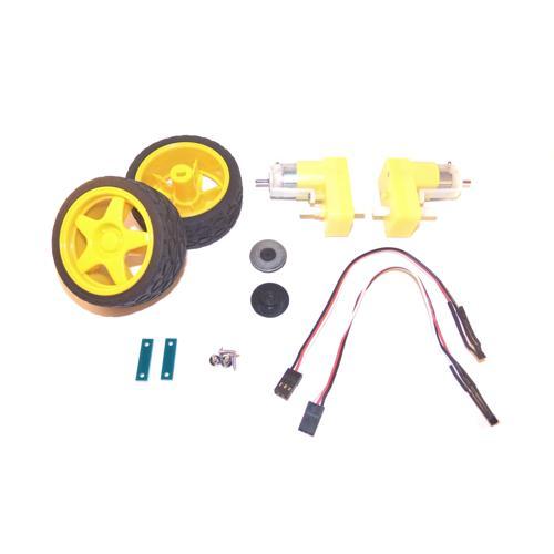 DAGU Gear Motor, Wheel, and Encoder Pair