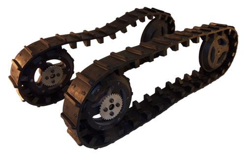LT2 Pair of Molded Spliceless Tracks and Wheel Set - Generation 4