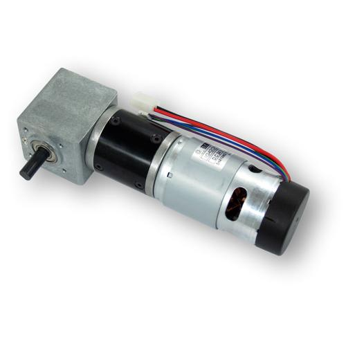 IG42 24VDC Right Angle 122 RPM Gear Motor with Encoder
