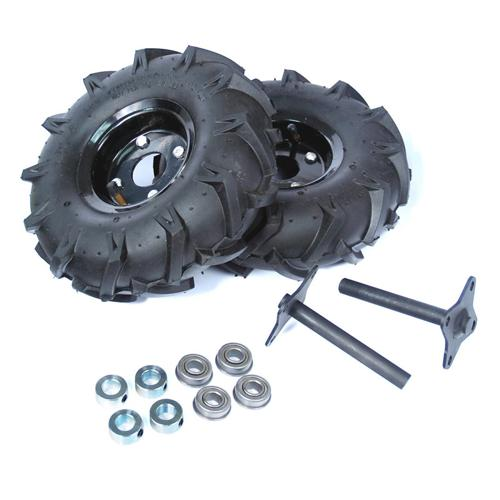 ATR Heavy Duty Wheel and Shaft Set Pair - 10 inch Traction Lug