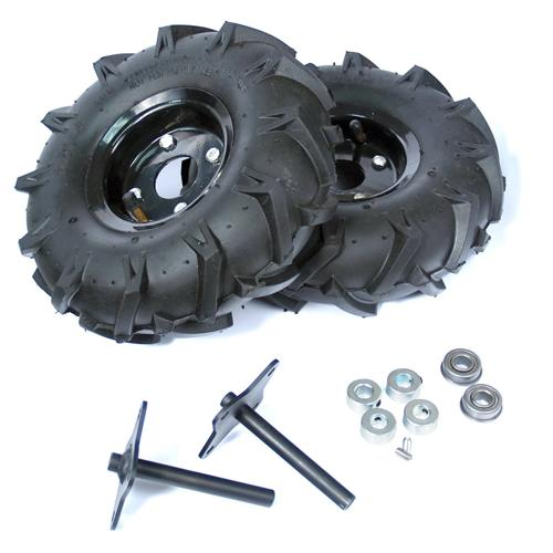 ATR Wheel and Shaft Set Pair 8mm bore - 10 inch Traction Lug