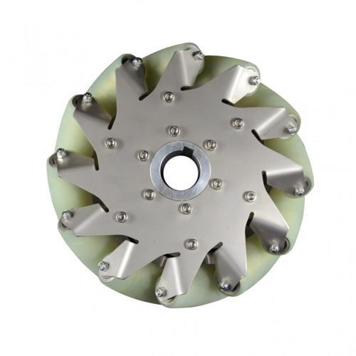 8 inch Nexus Robot Stainless Steel Mecanum Wheels with 8 PU Rollers – Set of 4
