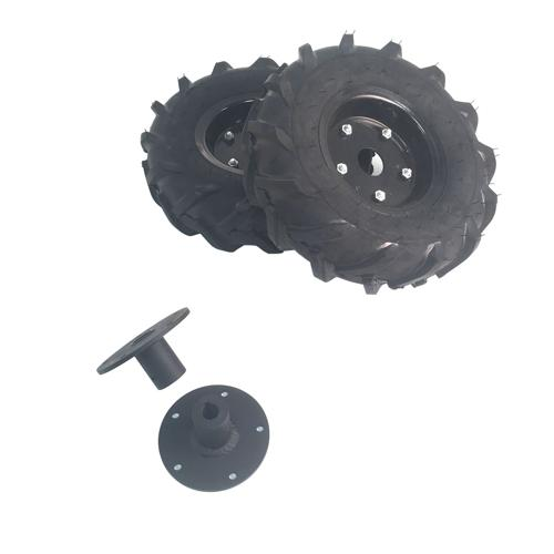 Direct Drive Wheelchair Motor Wheel and Shaft Set Pair - 13 inch Traction Lug