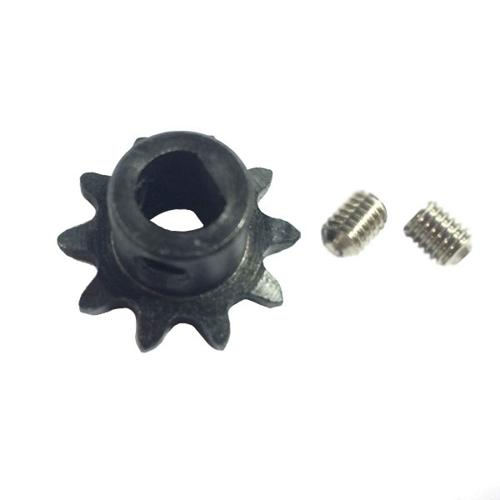 Steel D-Shaft Sprocket for #25 Pitch Chain - 10 Teeth