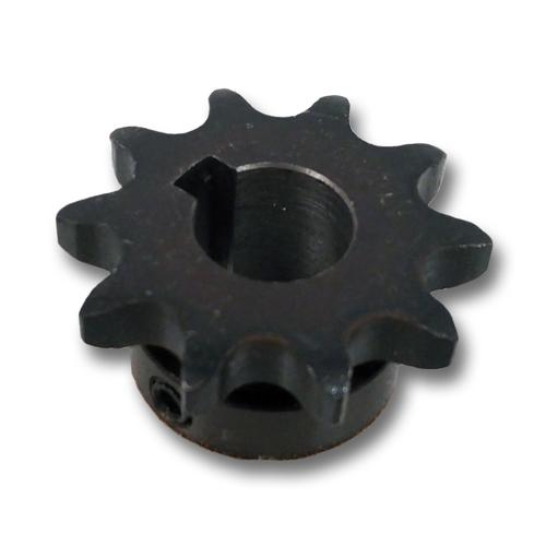Steel Roller Chain Sprocket for #40 Pitch Chain - 10 Teeth - 17mm bore