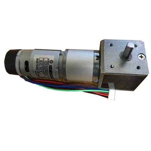 IG32 Right Angle 12VDC 043 RPM Gear Motor With Encoder
