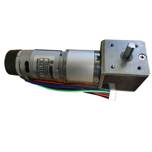 IG32 Right Angle 12VDC 083 RPM Gear Motor With Encoder