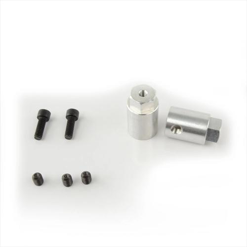 12mm Hex Mounting Hub for 6mm Shaft (2-Pack)