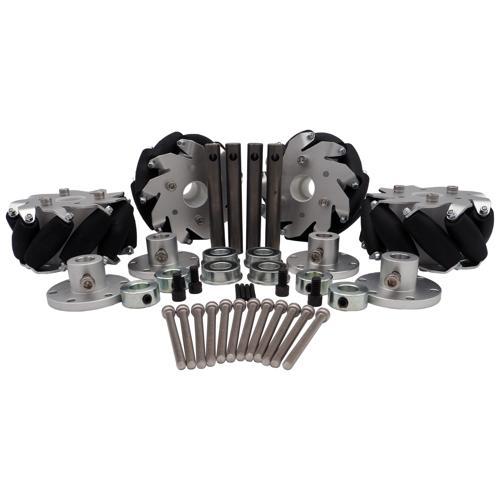 4 Inch Mecanum Wheel and Shaft Set - IG32 SB