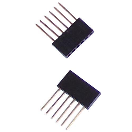 Arduino 1x6 Male/Female Header Strip - 2 pcs