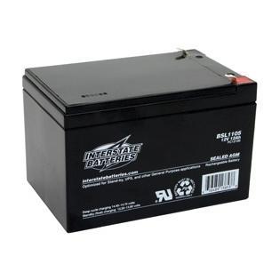Interstate 12 Volt 12 Ah Sealed Lead Acid Battery (SLA) - 0.250 Faston