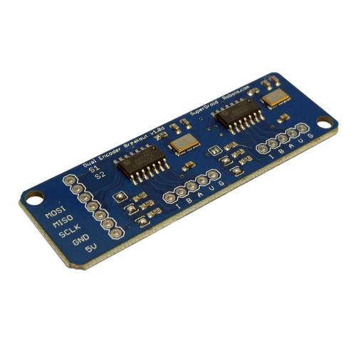 Dual LS7366R Quadrature Encoder Buffer