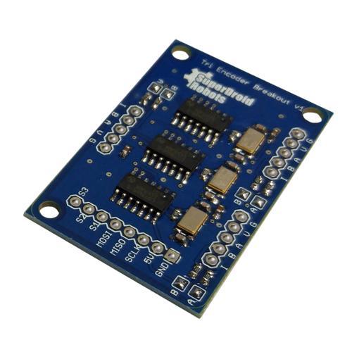 Triple LS7366R Quadrature Encoder Buffer