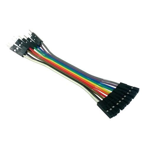 Jumper Wire 10-Piece 1-Pin Rainbow Assortment F-M 4