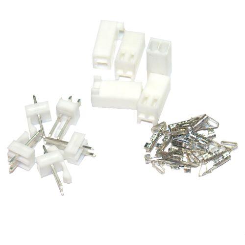 Molex 2-Pin Friction Lock Connector Set - 5 Pack