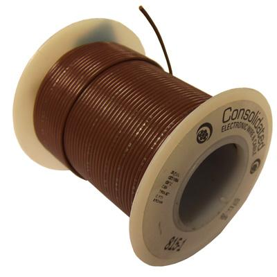 26AWG Brown Stranded Hookup Wire - 100ft spool
