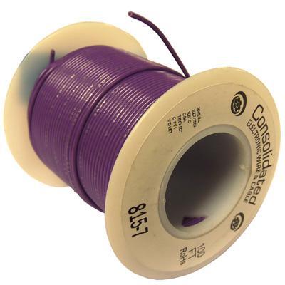 26AWG Violet Stranded Hookup Wire - 100ft spool