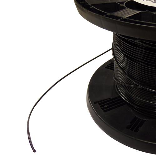 18AWG Black Stranded Hookup Wire - by the foot