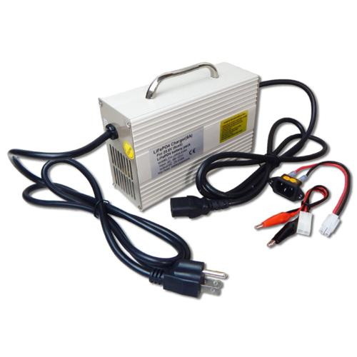 Smart Charger for 25.6V LiFePO4 Battery Packs, 6A