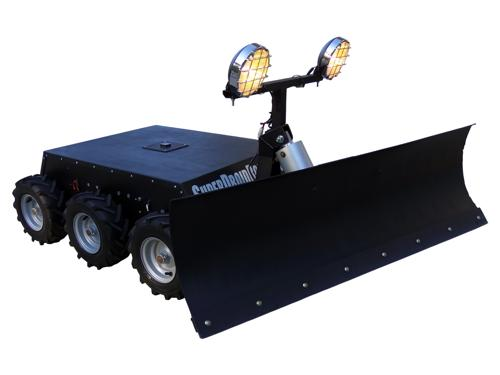 CUSTOM RC 6WD Robot with Snow Plow - SOLD