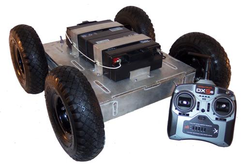 Heavy Duty 4WD All Terrain Mobile Robot Platform with 52mm Motors - SOLD