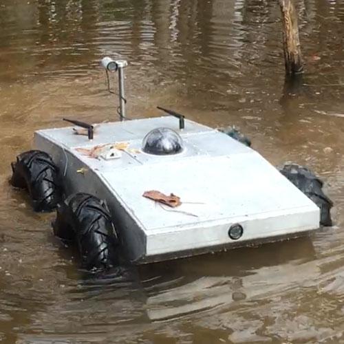 Custom Amphibious 4WD WiFi Robot - IG42 SB - SOLD