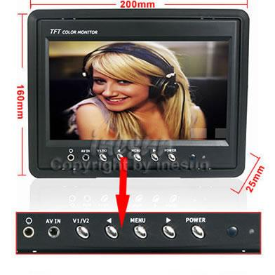 Color 7 inch LCD Panel Mount LCD - OPEN BOX