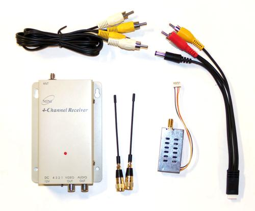 Wireless 900MHz Video Transmitter and Receiver Package - DISCONTINUED
